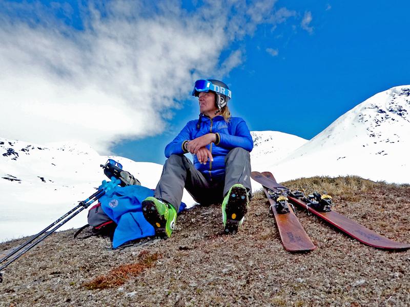 Bengt beim Heliskiing in Nordschweden